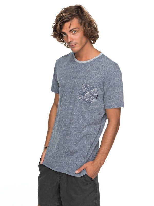 0 Broken Leash Pocket Tee Blue EQYKT03686 Quiksilver