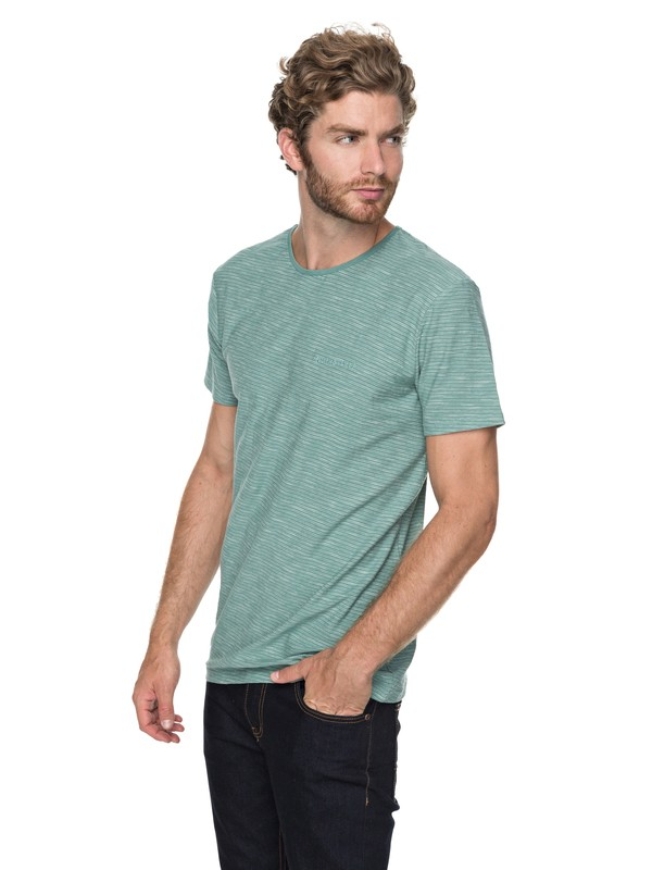 0 Ken Tin - T Shirt col rond Bleu EQYKT03687 Quiksilver