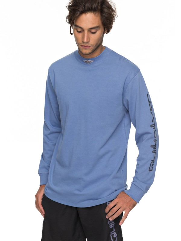 0 Print Mad Wax Long Sleeve Tee Blue EQYKT03689 Quiksilver