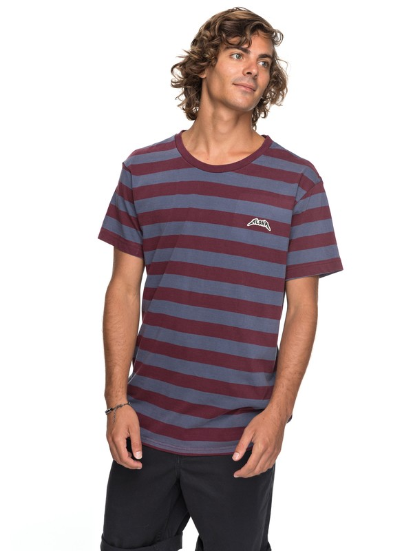 0 Cloud Guy - T Shirt col rond Rouge EQYKT03700 Quiksilver