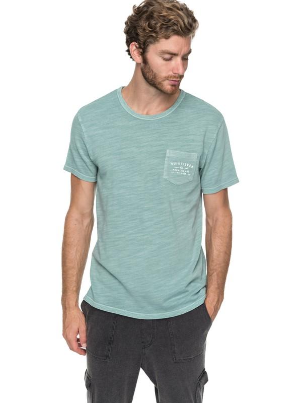 0 Vancheck - T shirt avec poche Bleu EQYKT03706 Quiksilver