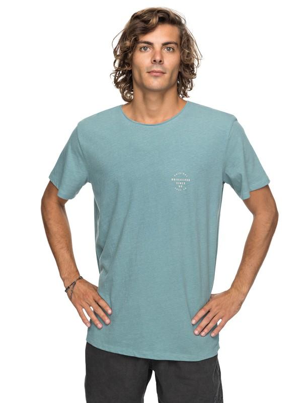0 Stage Gaze - T Shirt col rond Bleu EQYKT03708 Quiksilver