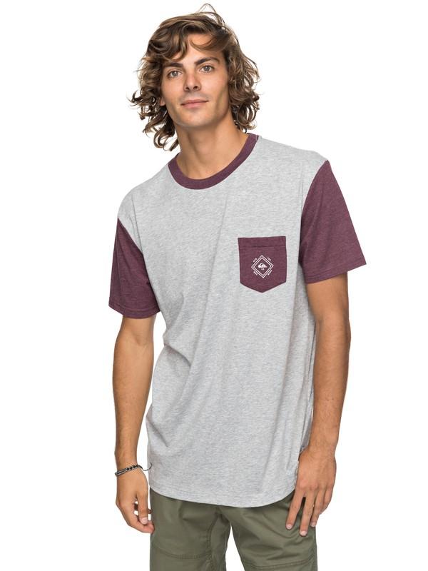 0 Baysic - Pocket-T-Shirt Grau EQYKT03733 Quiksilver