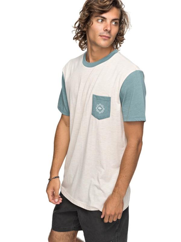 0 Baysic - T shirt avec poche Blanc EQYKT03733 Quiksilver