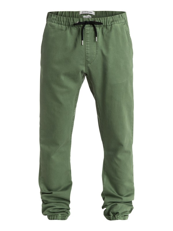 0 Fonic Slim Fit Pants Green EQYNP03047 Quiksilver