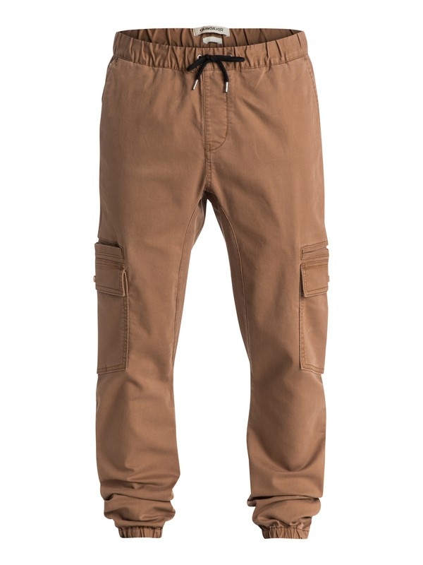 0 Neo Epiphone Straight Fit Pants Brown EQYNP03052 Quiksilver