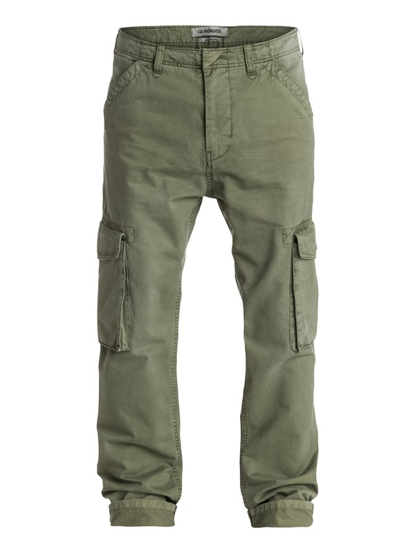 0 Everyday Cargo Straight Fit Pants Green EQYNP03055 Quiksilver