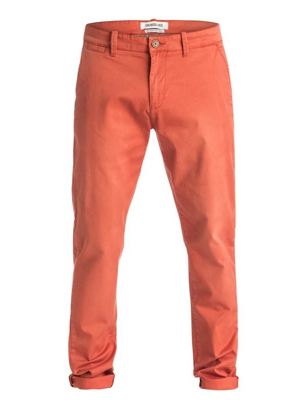 0 Krandy Straight Fit Tapered - Pantalon chino Rouge EQYNP03068 Quiksilver