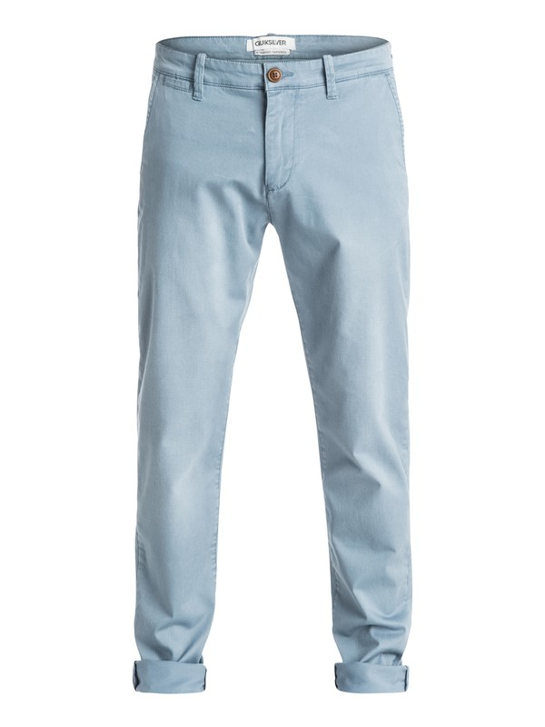0 Krandy Straight Fit Tapered - Pantalon chino Gris EQYNP03068 Quiksilver