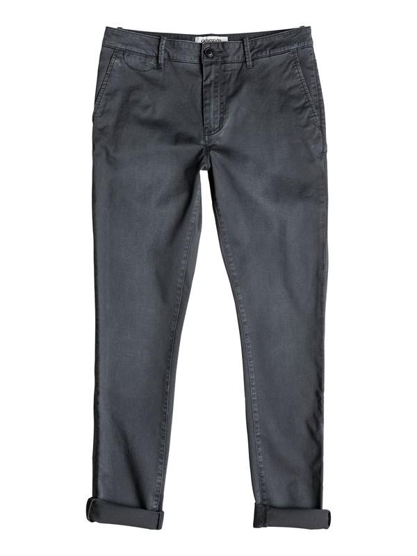 0 Krandy Slim Fit - Pantalon chino Noir EQYNP03076 Quiksilver