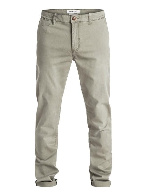 0 Krandy Slim Fit - Pantalon chino Vert EQYNP03076 Quiksilver