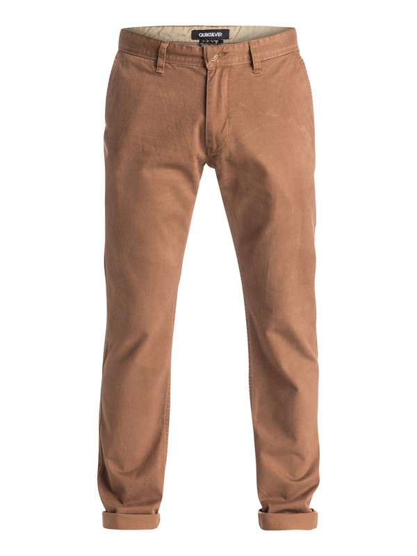 0 Everyday Chino Pants Brown EQYNP03077 Quiksilver