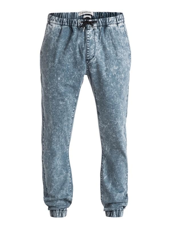 0 Outta My Way New - Pantalon molleton effet denim  EQYNP03081 Quiksilver