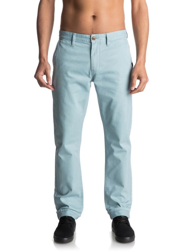 0 Everyday - Pantalon chino Bleu EQYNP03093 Quiksilver
