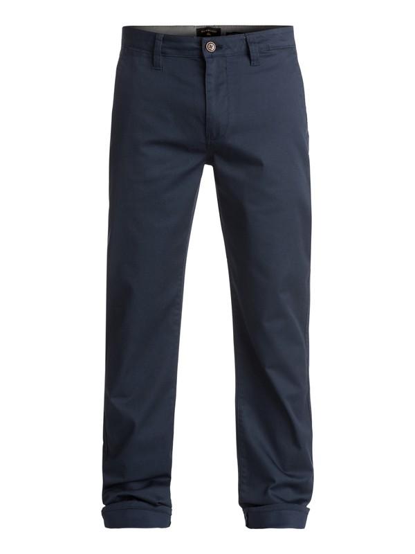 0 Everyday Union - Pantalon chino Bleu EQYNP03094 Quiksilver