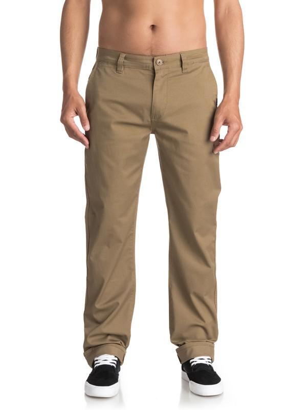 0 Everyday Union - Pantalon chino Beige EQYNP03094 Quiksilver