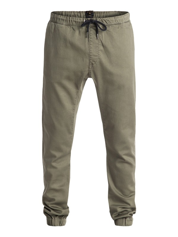 0 Fonic - Pantalon Coupe Jogger En Sergé  EQYNP03095 Quiksilver