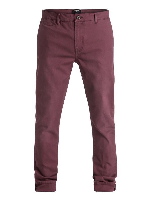 0 Krandy - Pantalon chino Rouge EQYNP03096 Quiksilver