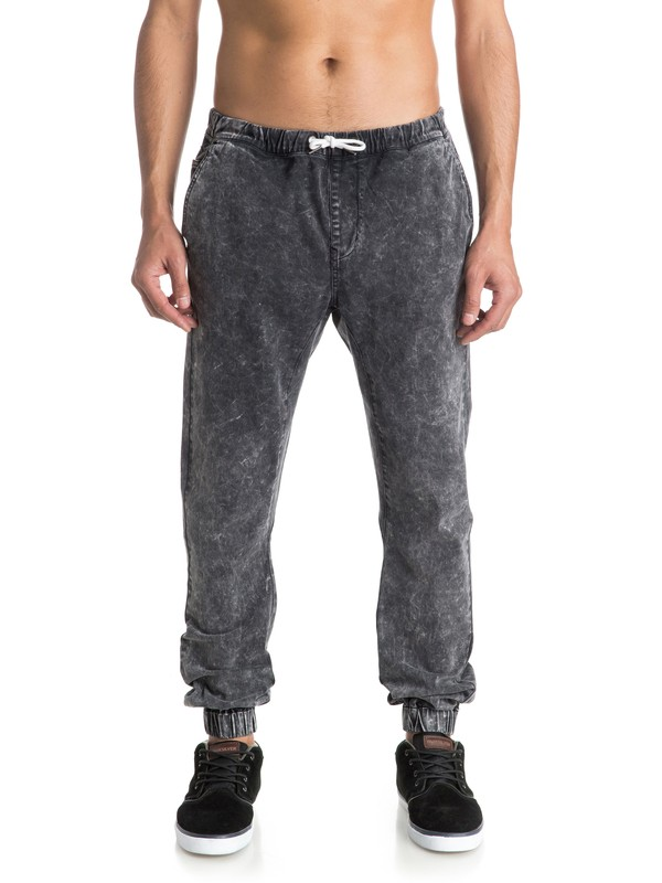 0 Outta My Way - Pantalon Molleton Effet Denim  EQYNP03100 Quiksilver