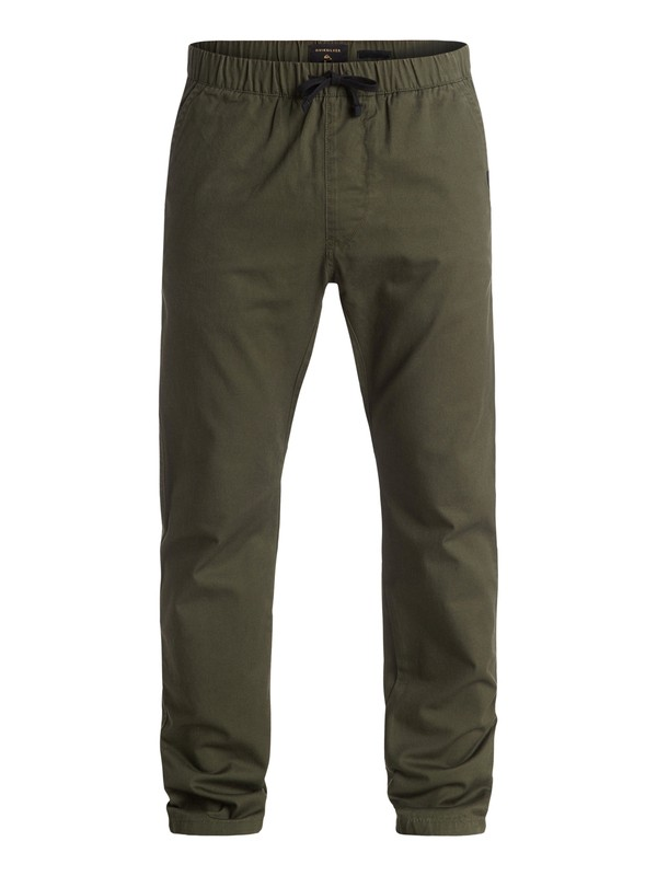 0 Fun Days Twill Joggers Brown EQYNP03101 Quiksilver