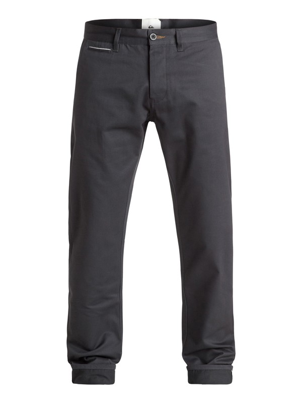 0 The Selvedge - Pantalon chino Noir EQYNP03103 Quiksilver