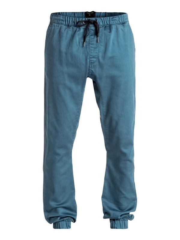 0 Fonic - Pantalon de jogging en sergé Bleu EQYNP03107 Quiksilver