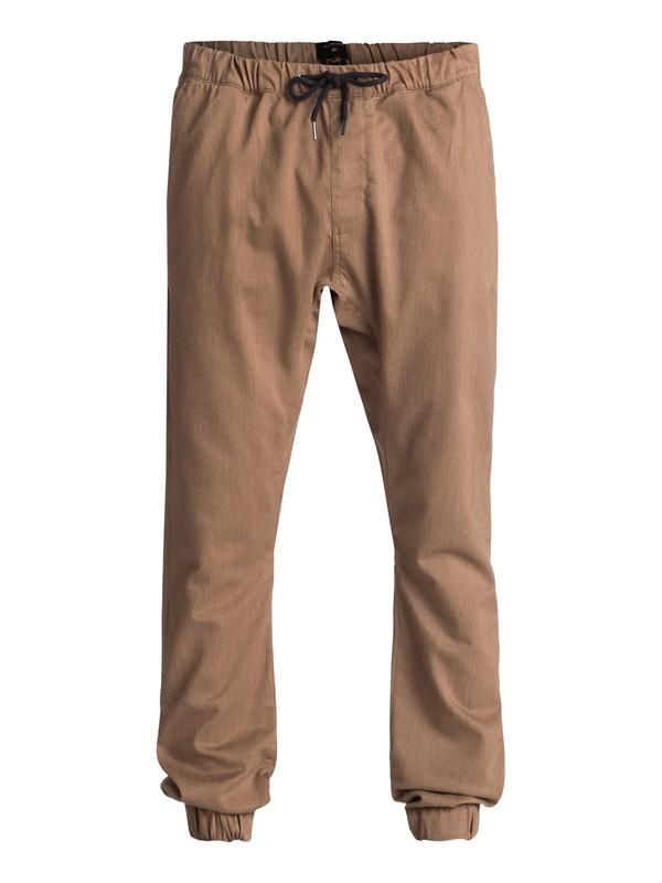 0 Fonic - Pantalon en sergé Marron EQYNP03107 Quiksilver