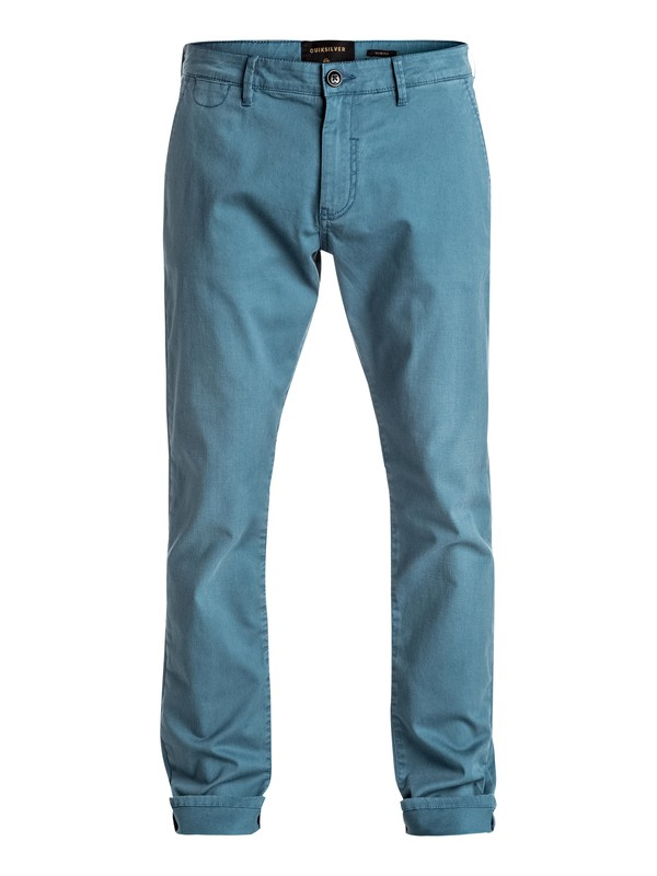 0 Krandy - Slim Fit Chinos Blue EQYNP03108 Quiksilver
