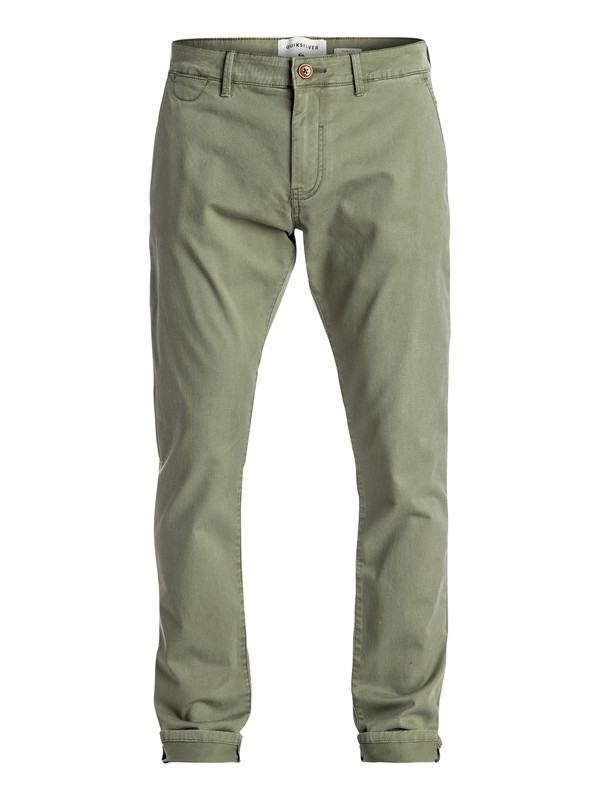 0 Krandy - Slim Fit Chinos Green EQYNP03108 Quiksilver