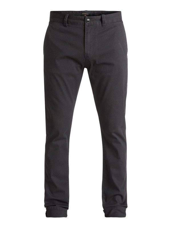 0 Krandy - Slim Fit Chinos Black EQYNP03108 Quiksilver