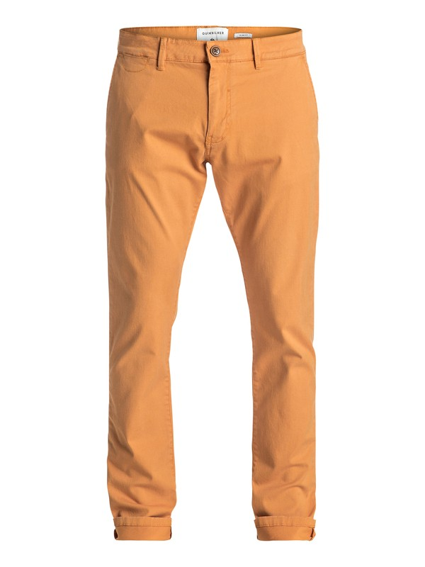 0 Krandy - Slim Fit Chinos Orange EQYNP03108 Quiksilver