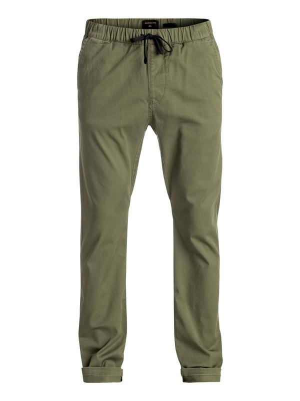 0 Fun Days - Pantalon coupe droite Vert EQYNP03110 Quiksilver
