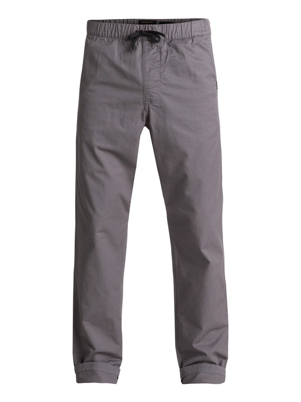 0 Fun Days Straight Fit Trousers Black EQYNP03110 Quiksilver