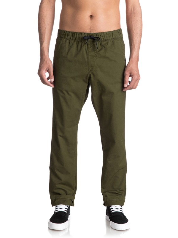 0 Fun Days Straight Fit Trousers Green EQYNP03110 Quiksilver