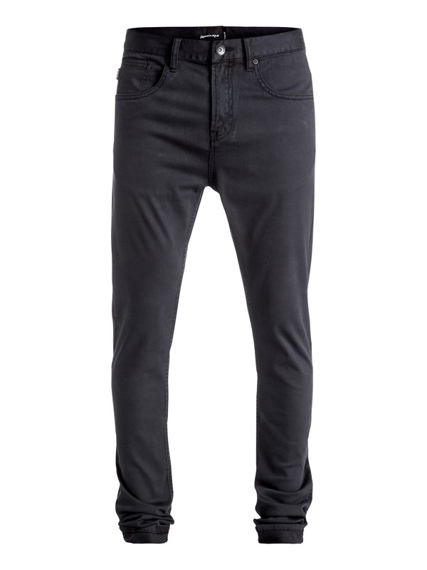 0 Low Bridge - Pantalon slim skinny Noir EQYNP03115 Quiksilver