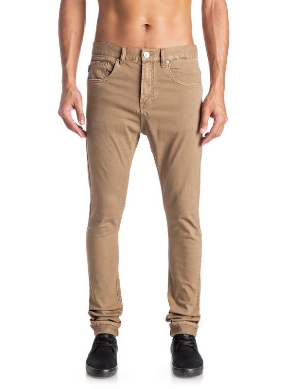 0 Low Bridge - Pantalon slim skinny Beige EQYNP03115 Quiksilver