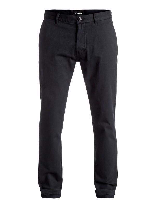 0 Cropped - Pantalon chino Noir EQYNP03121 Quiksilver
