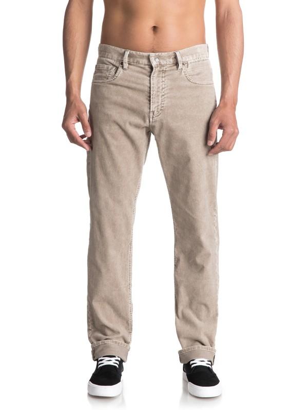 0 Kracker - Pantalon en velours Gris EQYNP03129 Quiksilver