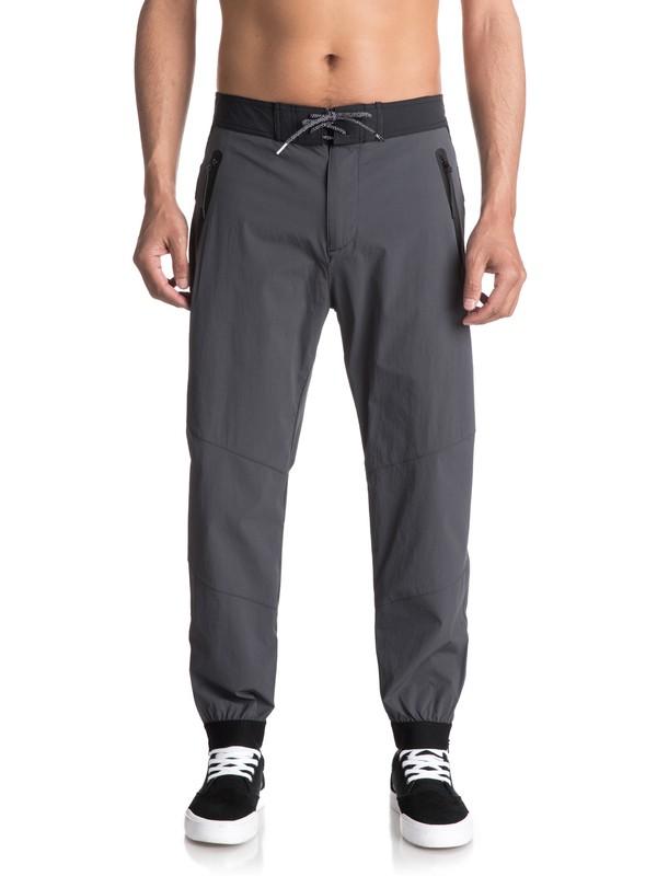 0 Sonic Powers - Pantalon de jogging technique Noir EQYNP03131 Quiksilver