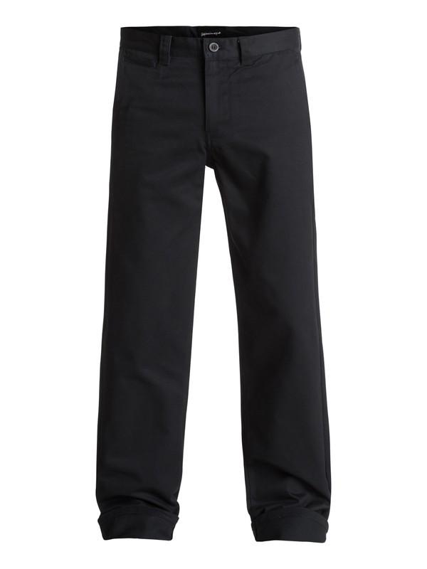 0 Ghetto Surf - Pantalon en sergé Noir EQYNP03132 Quiksilver
