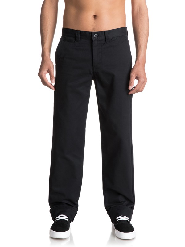 0 Ghetto Surf Twill Trousers Black EQYNP03132 Quiksilver