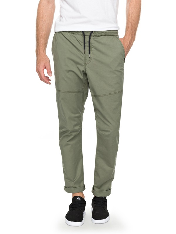 0 Foxoy Straight Tapered Fit Pants Green EQYNP03134 Quiksilver