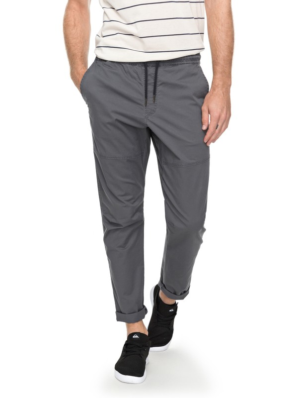 0 Men's Foxoy Straight Tapered Pants Black EQYNP03134 Quiksilver