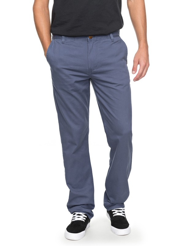 0 Everyday Light - Pantalon chino Bleu EQYNP03136 Quiksilver