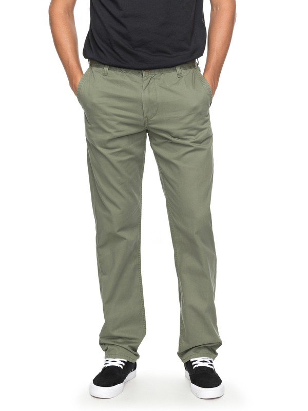 0 Everyday Light Chinos Green EQYNP03136 Quiksilver
