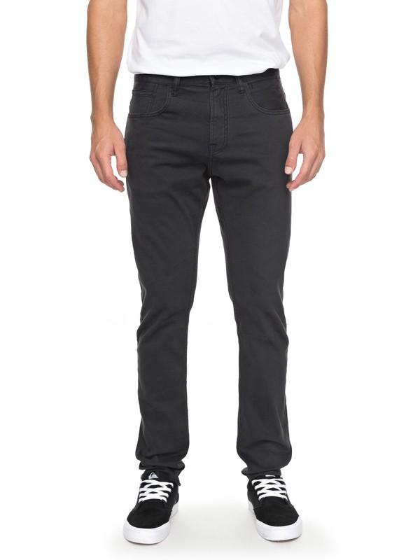 0 Dawn To Dust - Pantalon coupe slim Noir EQYNP03140 Quiksilver