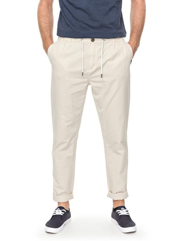 0 Coastal Life - Pantalon coupe droite Beige EQYNP03141 Quiksilver
