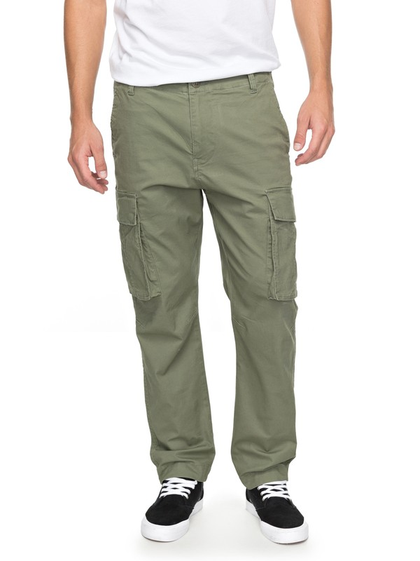 0 Svenka - Pantalon coupe droite Vert EQYNP03142 Quiksilver
