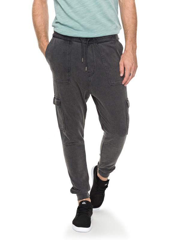 0 Mystic Rider - Pantalon de jogging cargo Noir EQYNP03145 Quiksilver