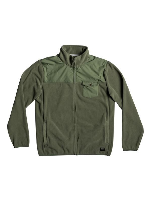 0 Men's Timberlost Zipped Polar Fleece Green EQYPF03029 Quiksilver